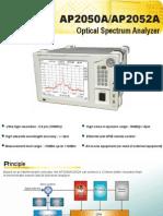 Optical Spectrum Analyzer AP2050A - APEX Technologies