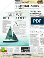 Front page, recession - The Patriot-News - Dec. 30, 2014