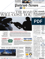 Front page, gasoline prices - The Patriot-News - December, 30, 2014