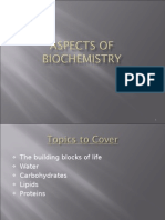 Aspects of Biochemistry-water Carbohydrates