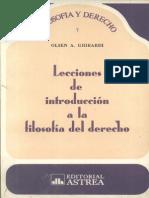 Lecciones de Introduccion a La Filosofia Del Derecho – Olsen a. Ghirardi