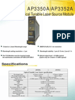 Optical Tunable Laser Source AP3350A - APEX Technologies