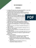 IGCSE Full  Economics Notes