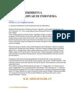 Sejarah Berdirinya Muhammadiyah Di