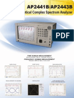 Optical Complex Spectrum Analyzer AP244XB - APEX Technologies