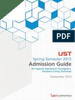 UST Admission Guide Spring en 2015
