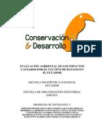 Banana Enviromental Impacts - Evaluacion Ambiental de Los Impactos Causados Por El Cultivo de Banano en El Ecuador Octubre 1999