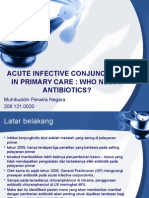 Acute Infective Conjunctivtis in Primary Care