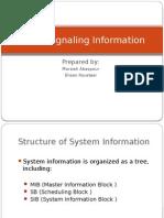 UMTS Signaling Information