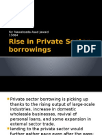 Rise in private sector borrowing