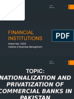 Nationalization and privatization of commercial banks