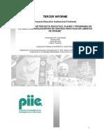 PIIE ELABORACIÓN DE PROYECTO EDUCATIVO, PLANES Y PROGRAMAS DE