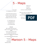 Maroon 5 - Map Lyrics