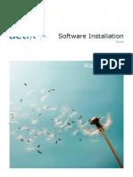 Actix Software Installation