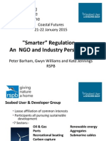 'Smarter' Regulation – An NGO and Industry Perspective