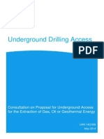 Underground Drilling Access - consultation May 2014