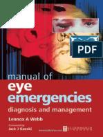 Manual of Eye Emergencies. Diagnosis and Management (2004)