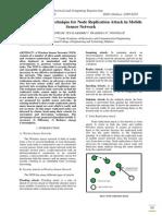 IISRT-6-Node Detection Technique for Node Replication Attack in Mobile Sensor Network