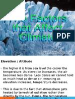 Presentation - Factors Affecting Climate