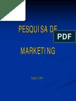 Anotações de Pesquisa de Marketing