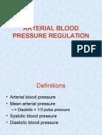 Arterial Blood Pressure Regulation