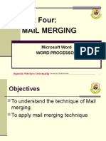 Part Four Mail Merging