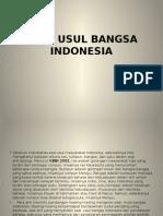 Asal Usul Bangsa Indonesia