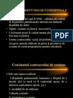CESIUNEA DREPTURILOR PATRIMONIALE