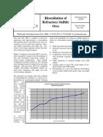 Biooxidation of Refractory Sulfide Ores