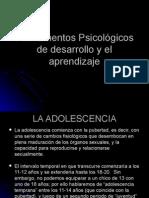 Fundamentos Psicológicos de Desarrollo y El Aprendizaje