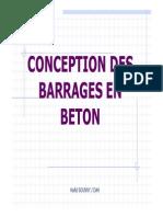 Barrages en Béton