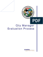 City manager evaluation process peport