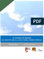 Economía de Bizkaia. EL RETO DE LA CULTURA INDUSTRIAL
