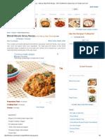 Bhindi Masala Gravy - Step by Step Photo Recipe - Stir Fried Bhindi in Spicy Gravy of Tomato and Curd