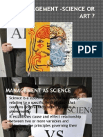 Management –Science or Art