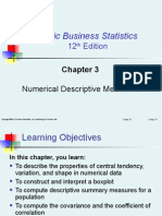Chapter 3:Numerical Descriptive Measures