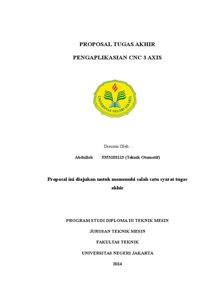 Contoh Proposal Tugas Akhir Teknik Mesin Otomotif Seputar Mesin