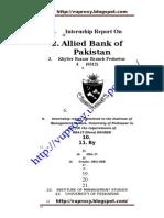 Internship on AbL Bank