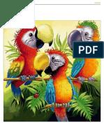 FABO Cross Stisch papagallo