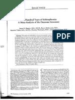 One Hundred Years of Schizophrenia