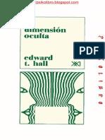 La Dimension Oculta-Edward Hall