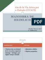 OVACE-Maniobra de Heimlich CCA 2013