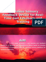 A Wireless Sensory Feedback Device for Real-Time Gait Gts