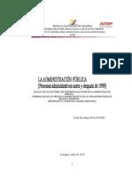 Administración Pública-principios-Antes y Después de 1999
