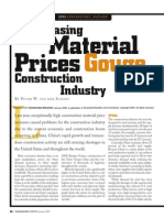 Increasing Material Prices Gouge Construction Industry