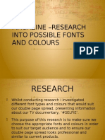 Fonts and Colour Research