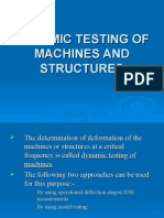 Dynamic Testing of Machines and Structures