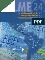 Alme Acta Latinoamerica de Matematica Educativa