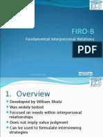 FIRO B Lecture