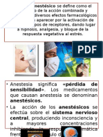 Generalidades de Anestésicos